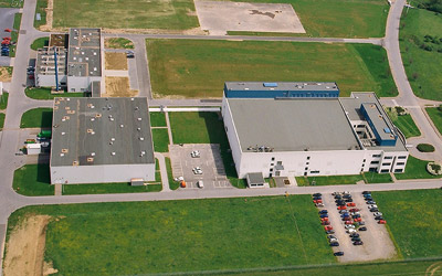 Aerial photo of the Trade- and business park Aachener Land